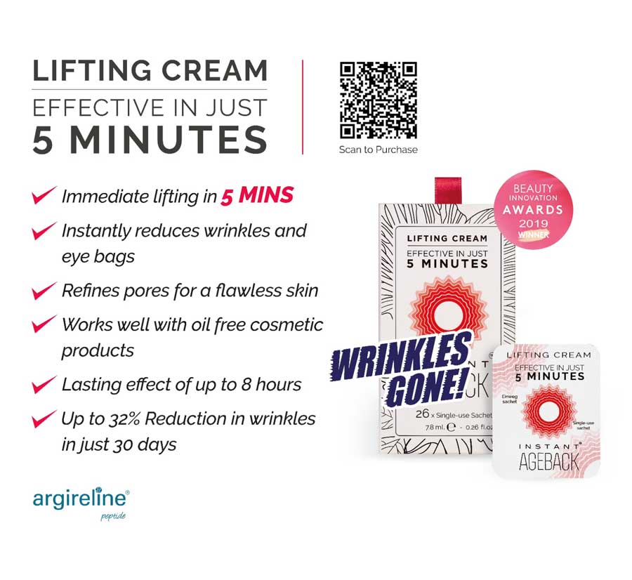 Lifting cream - effective in just 5 mins